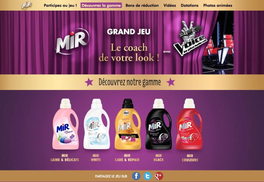 MIR site gamme